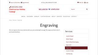 Melancon Jewelers: Engraving