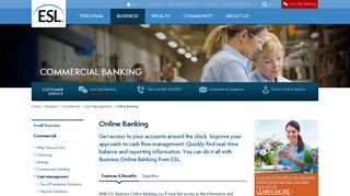Online Banking   esl.org