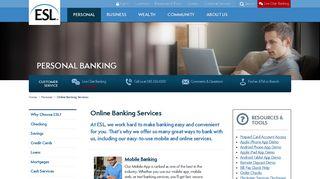 Online Banking Services   ESL Federal Credit Union