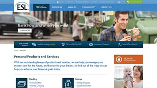 Personal Banking   ESL Federal Credit Union