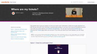 Where are my tickets? | Eventbrite Help Center