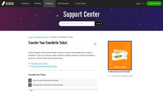 Transfer Your Eventbrite Ticket – Sched Support