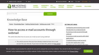 How to access e-mail accounts through webmail