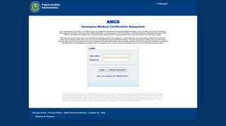 AMCS Login - Login Page - Federal Aviation Administration