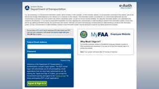 MyFAA Login   U.S. Department of Transportation