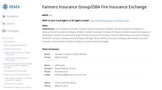 Farmers Insurance Group/DBA Fire Insurance Exchange | FEMA.gov