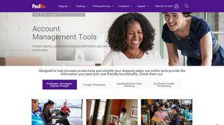 Account Management Tools - FedEx