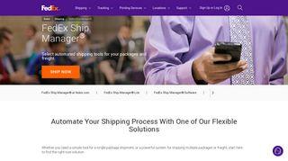 FedEx Ship Manager Software