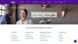 Help Center | FedEx