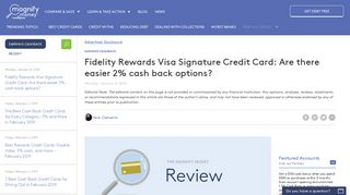 Fidelity Investment Rewards Credit Card Review - MagnifyMoney