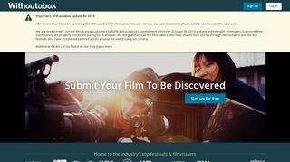 Withoutabox: Submit to Film Festivals