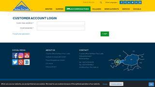 Customer account login - Serfaus Fiss Ladis