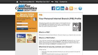 PIB   Fox Communities CU - Online Banking Community