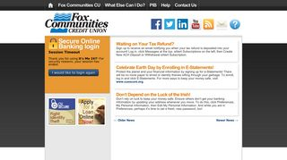 Fox Communities CU   Online Banking Community   Page 82