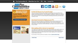 Fox Communities CU   Online Banking Community   Page 90