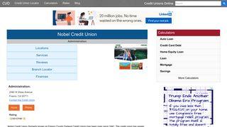 Nobel Credit Union - Fresno, CA - Credit Unions Online