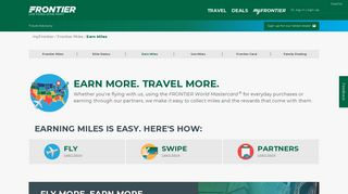 Earn Miles | Frontier Airlines