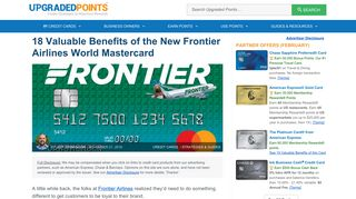 18 Valuable Benefits of The Frontier Airlines World Mastercard [In-Depth]