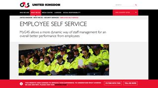 Employee Self Service | Security Services | G4S United Kingdom