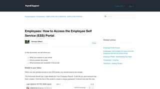 Employees: How to Access the Employee Self Service (ESS) Portal - AU