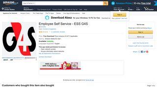 Employee Self Service - ESS G4S - Amazon UK