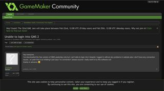 Unable to login into GMS 2   GameMaker Community