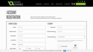 Register for a YoYo Account - YoYo Games
