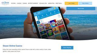 Ocean Online Casino - Ocean Resort Casino
