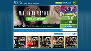 ResortsCasino.com: Play New Jersey Online Casino Games | Get up ...