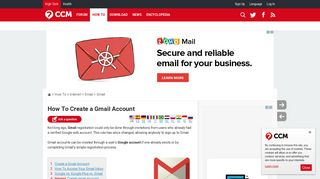 How To Create a Gmail Account - Ccm.net