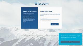 Create New Account - IP.com