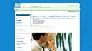HCP Provider Portal > Home - Indiana Medicaid