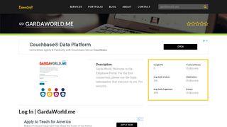 Welcome to Gardaworld.me - Log In   GardaWorld.me