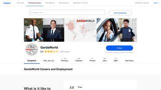 GardaWorld Careers and Employment   Indeed.com