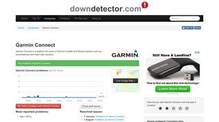 Garmin Connect down? Current status and problems | Downdetector