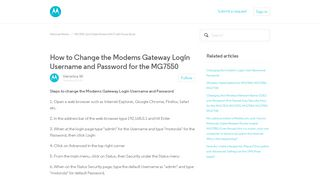 How to Change the Modems Gateway Login Username and Password ...