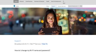 Telstra - Change my Wi-Fi name and password? - Support