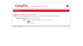 CompTIA CertMetrics login - certmetrics.com