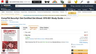CompTIA Security+ Get Certified Get Ahead: SY0-501 Study Guide ...