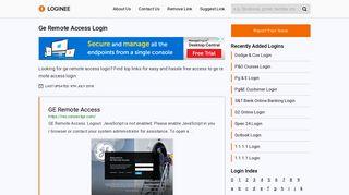 Ge Remote Access Login
