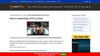 How to Install Gears IPTV on Kodi - TroyPoint