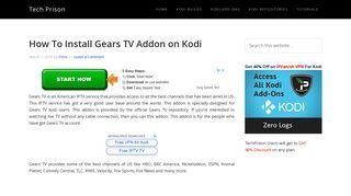How To Install Gears TV Addon on Kodi   Tech Prison