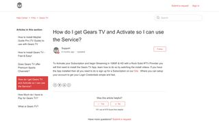 How do I get Gears TV and Activate so I can use the Service? – Help ...