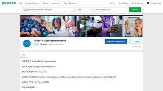 Geisinger Patient Access Representative Job in Wilkes-Barre, PA ...