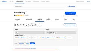 Working at Gemini Group: Employee Reviews | Indeed.com