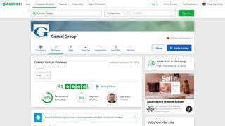 Gemini Group Reviews | Glassdoor