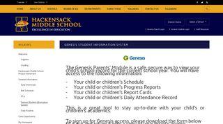 Wilkins / Genesis Student Information System - Hackensack Public ...