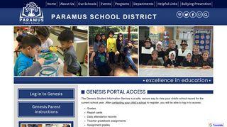 Genesis Parent Access - Paramus Public Schools
