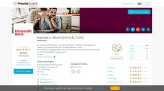 Hanseatic Bank GmbH & Co KG Experiences & Reviews