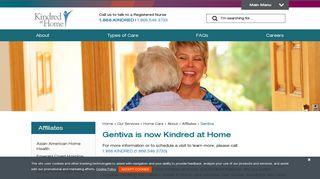 Gentiva | Kindred at Home - Kindred Healthcare